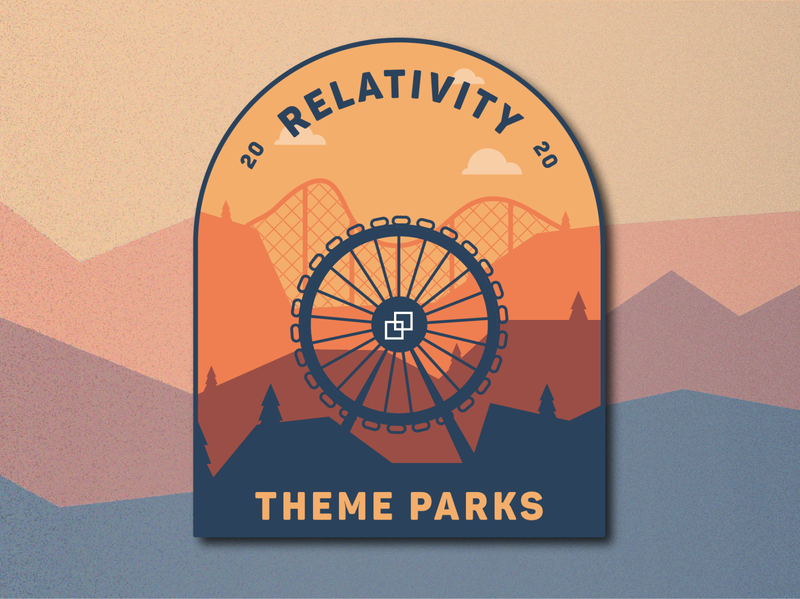 Relativity Theme Parks Badge