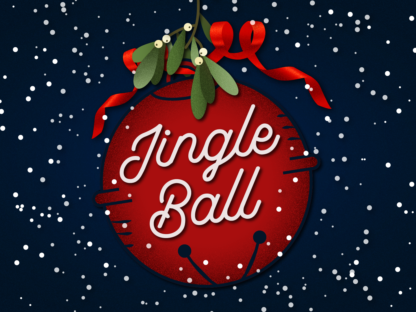 Jingle Ball holiday party christmas xmas holiday vector typography party illustration creative suite logo illustrator design branding art