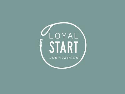 Loyal Start Dog Training | Logo design clean branding logo