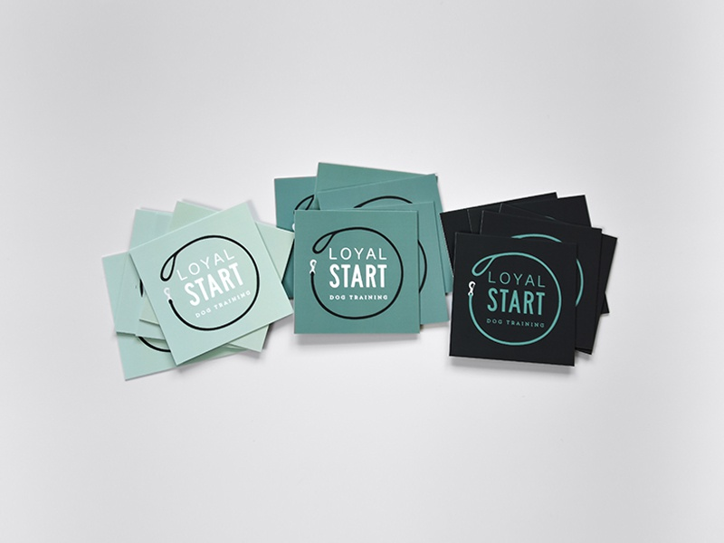 Loyal Start Dog Training   Business Cards by Amy Thelen - Dribbble