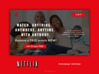Netflix Homepage Redesign