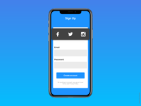 Sign Up - Daily UI Challenge #1