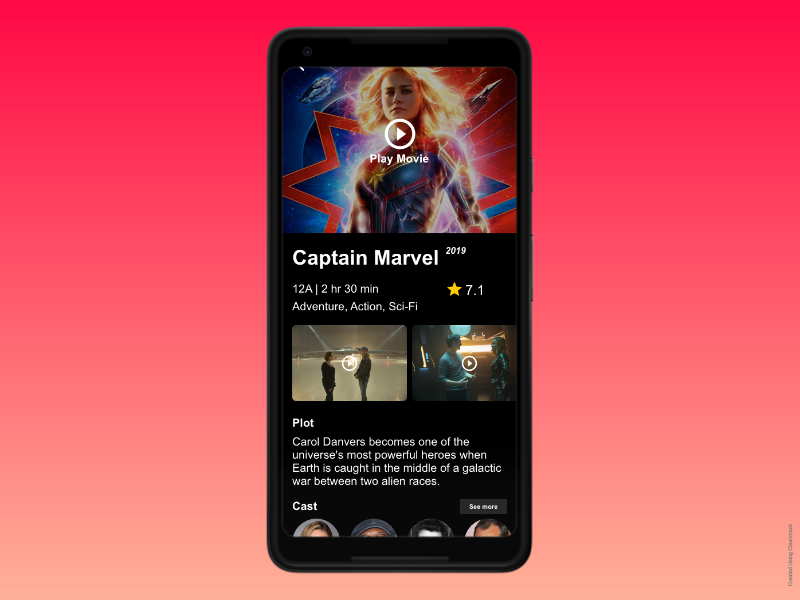 Video on Demand App UI dailyui daily ui design app mobile app development ui ux amazon hulu videoapp netflix vod video