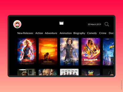 Video On Demand TV Application UI tv app vod netflix video app