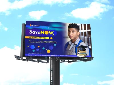 Access Bank Save Now Account Opening Billboard Mockup