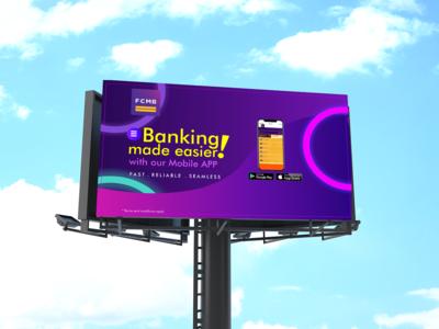 Fcmb Mobile Banking Billboard Mockup Concept