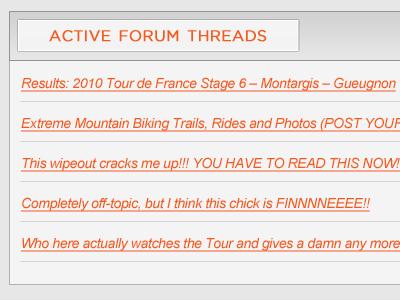 Active Forum Threads