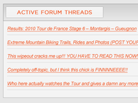Active Forum Threads