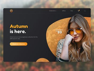 Sunglasses for Autumn elementor front-end development ecommerce sunglasses uidesign ui