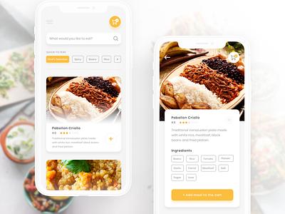 Meal Delivery App ui meals delivery app delivery sketch description tags search bar cards ios food delivery food delivery app food app