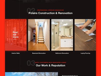 Remodelling Polaire elegant web modern interior home construction website design website