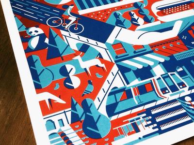 D.C. print illustration design justin tran washington dc print screen print