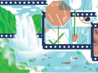 RVA Environmental Film Festival justin tran illustration editorial magazine film festival rva richmond