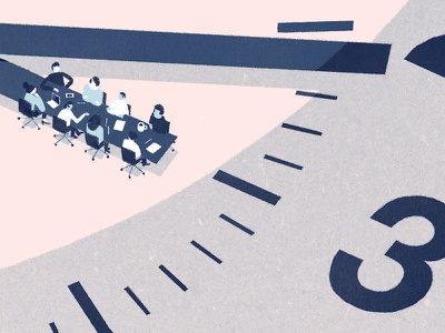 Shorten meetings productivity work meetings illustration
