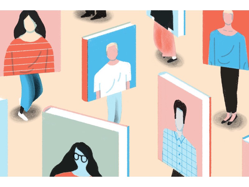 People covers book cover people books editorial dropbox illustration