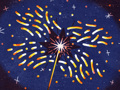2018 illustration happy new year dropbox 2018