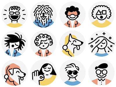 Casper / avatars sleep dog casper avatars icons