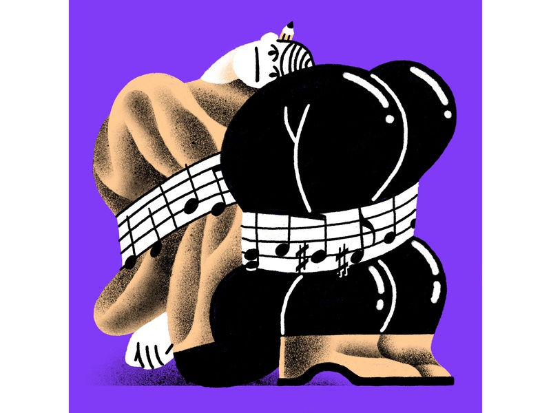 "The odd history of ""productivity music"" productivity muzak music illustration dropbox"