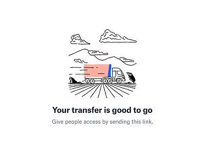 Dropbox Transfer / success