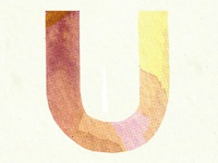 "Watercolor ""U"""