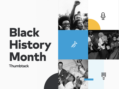 Black History Month 2021 poster brand color blocking african american black american blm bhm black history month