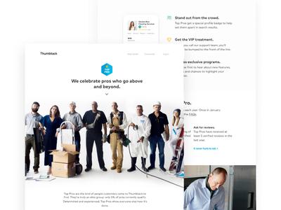 Top Pro Landing Page typography group shot minimal visual design ui landing page design
