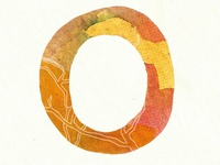 "Watercolor ""O"""