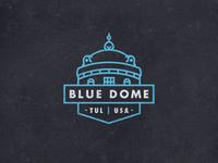 Tulsa Blue Dome Badge