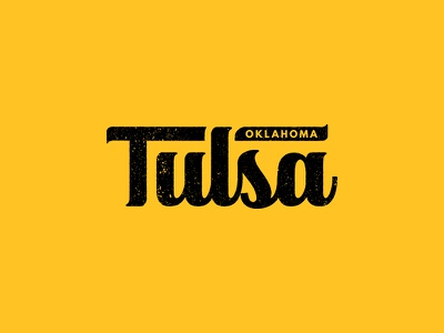 Tulsa tulsa time industrial throwback vintage distressed retro script typography oklahoma tulsa