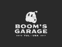 Boom's Garage Stacked Mark