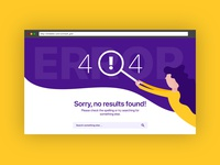 404 Page Design - Daily UI Challenge 008/100