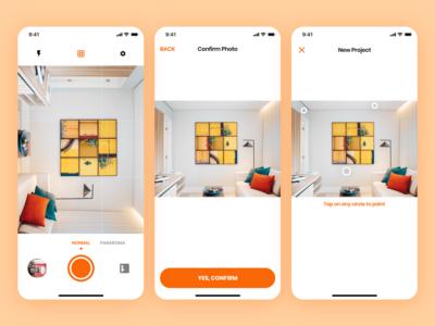 Paint AI App UI/UX Design - Capture Mode