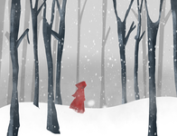 Red Riding Snow