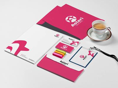 "Branding for ""Asteri"" Sweet-shop brand identity logotype logo branding design design branding"