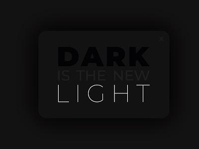 Dark is the new light dark ui ui light mode dark mode