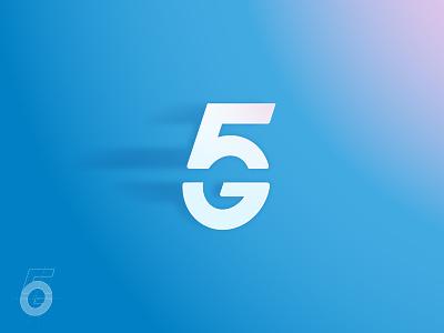 5G final concept logo 4g 5g concept logo
