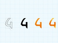 "Iteration of ""4"" pictogram"
