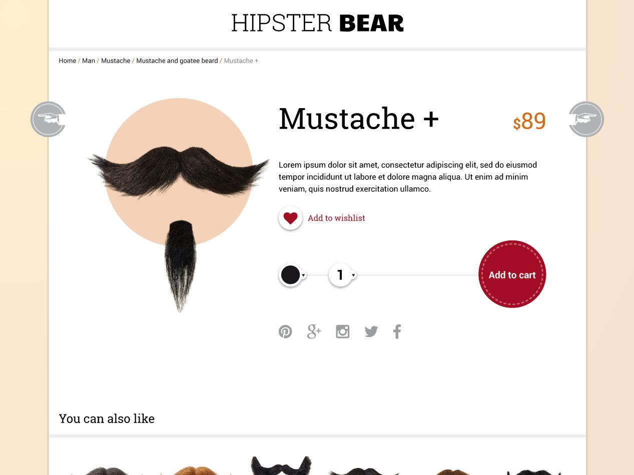 Hipster bear shop