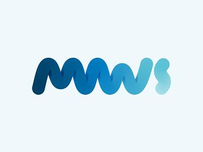 MWS Monogram logo wave mws monogram water sports
