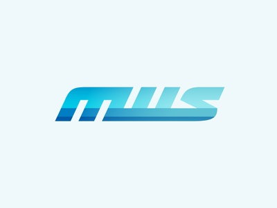 MWS Monogram logo old style water sports monogram mws