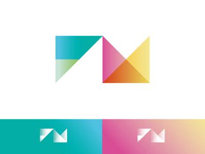 FM monogram charts monogram logotype pictogram