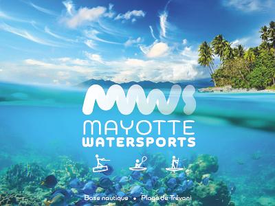 MWS Logo mayotte wave watersports logotype monogram