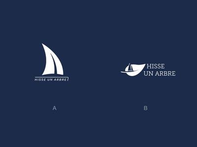 Hisse un arbre reforestation tree sailing race sail logo