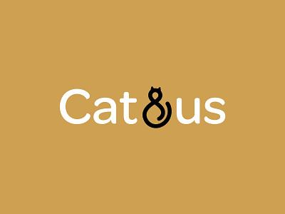 Cat&Us logotype animal cat logo