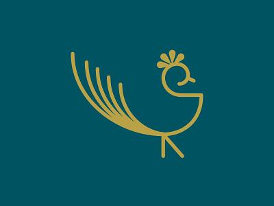 Peacock logo animal paon peacock