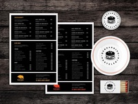 Bite Sized Food Menu Template