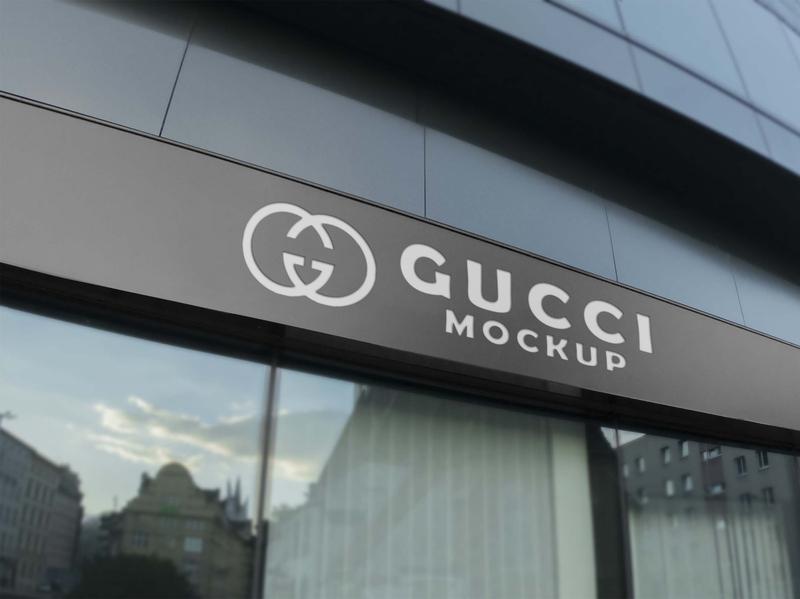 Free Gucci Store Logo Mockup mockups psd download mock-up mockup mock-ups download download mockup