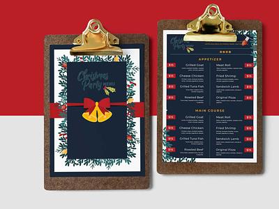 Merry Christmas Design Menu Template branding illustration design