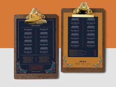 Food Mart Christmas Menu Design Template branding illustration design