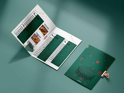 Christmas Party Event Menu Design Templates design illustration logo